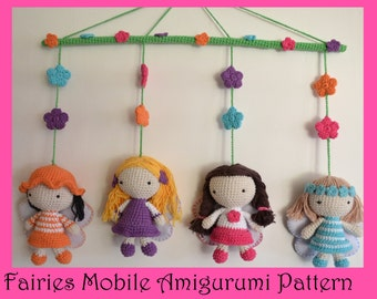 Fairies Mobile Amigurumi Pattern