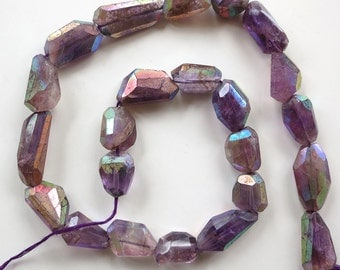Pink Amethyst A/B Faceted Nuggets - 1/2 Strand