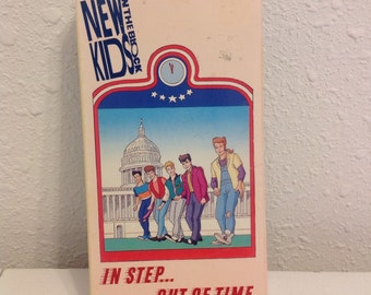 NKOTB Cartoon VHS Tape, In Step... Out of Time, New Kids on the Block Tape