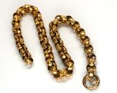 Gorgeous Heavy Georgian Gold Filled Belcher Chain