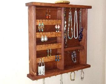 Jewelry Organizer , Dorm Room Organizer, Jewelry Holder , Jewelry Storage and Organization