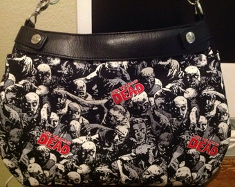 Walking Dead SUITE purse skirt cover handmade thirty one
