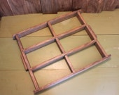 Rustic Wood Display Shabby Chic Shadow Box Upcycle Project Home Decor Vintage 1950s 50s (GR)