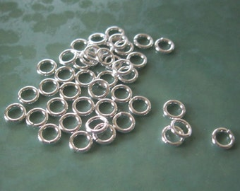 5.5 mm  16 GA Open Jump Rings Heavy Gauge Sterling Silver Findings 20 Rings