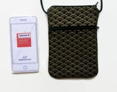 Crossbody iPhone Hipster  Black with Metalic Gold Arches