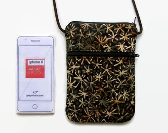 Cross Body iPhone Hipster  Chearfull Stars in Browns and Tans