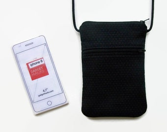 Crossbody iPhone Bag, Small Purse, Almost Black