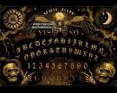 Ouija Board, Spirit Board, Gothic Art, Steampunk, Victorian , Spooky, Vintage , Occult, Art Print by Marcus Jones
