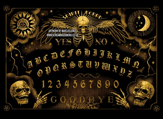 Ouija Board Spirit Gothic Art Steampunk By