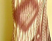 man's sarong deep purple and cream with turquoise edging diamond design Pp11