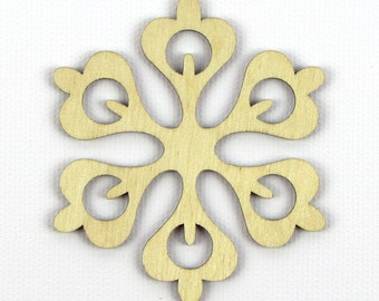 Flower Petals - Laser Cut Wood Snowflake in Multiple Sizes and Quantity Discounts
