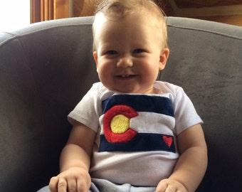 Colorado Flag Shirt, Baby Colorado Bodysuit, I Love Colorado Shirt