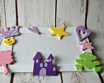 Princess Themed Craft Kit, Magnet Craft, Party Activity, Children's Crafts, Picture Frame Party Favor
