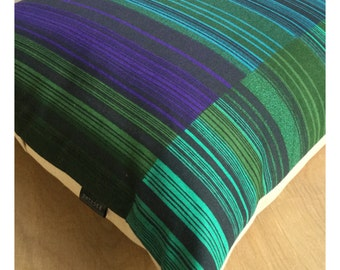 """70s Vintage David Green """"Mediant """" Heals Fabric Cushion Cover 20 x 20"""
