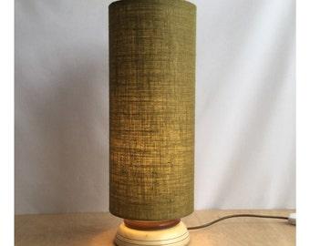 Extra Tall Natural Hessian Lampshade Lightshade Retro Lampshade 70s Style Lightshade