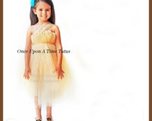 Native American Princess Tutu Dress - Birthday Outfit, Beige Halloween Costume - 3 6 9 12 18 Months 2T 3T 4T 5T 6 7 8 10 12 - Indian Queen