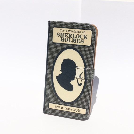 Book phone /iPhone flip Wallet case- Sherlock Holmes for  iPhone 7, 6, 6 & 7 plus, 5, 5s, 5c, 4- Samsung Galaxy S7 S6, S5 , Note 4, 5, 7