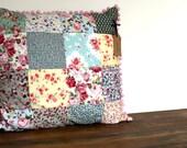 Patchwork Pillow Boho Bohemian Cushion, Birthday Gift Shabby Chic Decor Nursery Baby Shower, Little Girls Room