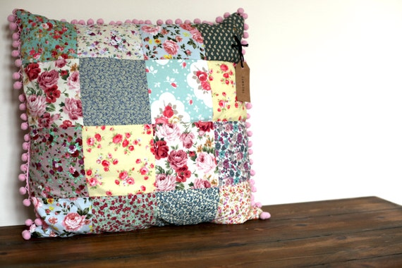 Pink Patchwork Pillow Rachel Ashwell Shabby Chic Couture