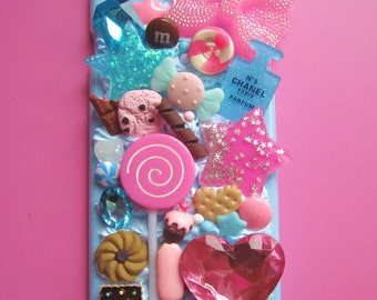 Reduced A few of my favourite kitsch things iphone plus 6 case pastel blue candy cane sweet lollipop girly