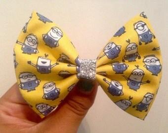 SUPER SALE Minion hair bow