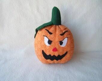 Stuffed Fabric Halloween Pumpkin - Large