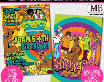 Scooby Doo Birthday Invitations