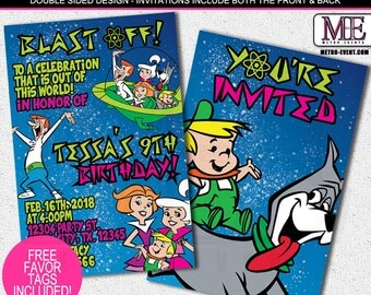 The Jetsons Birthday Invitations,Jetsons Invitations, Invitations, Space Invitations, Invitation, Jetsons Party, The Jetsons