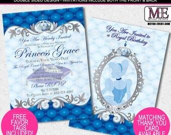 Princess Birthday Invitations, Disney Princess Invitations