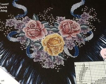 C -  VICTORIAN BOUQUET TABLECLOTH - Cross Stitch Pattern Only