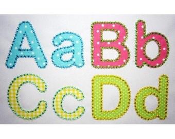 BX font included! Rounded HandStitch Alphabet Applique Machine Embroidery Design AL012