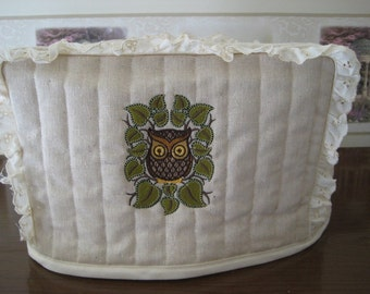 2 Slice Toaster Cover Owl Design