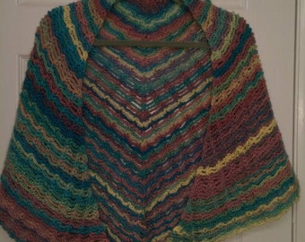 Light Lacey Striped Pastel Shawl - Wrap