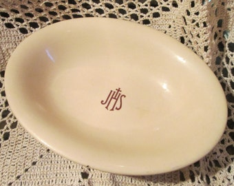 Vintage Mayer China Restaurant Ware Bowl Marked JSH, Hospital China