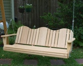 6 Foot Cypress Adirondack Porch Swing