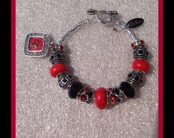 European University of Louisville Cardinal DaVinci Charm Bracelet Fashion Jewelry