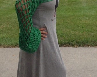Bell-Bottom Cuff Shrug