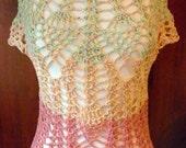 "Blouse openwork crochet  ""Tutti Frutti"""