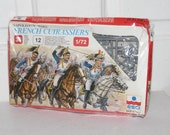 NAPOLEONIC WARS ESCI French Cuirassiers // Deadstock War Horse Soldiers 12 Mounted Figurines New Old Stock Italy 36 Pieces Collectors Art