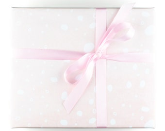Pink Wrapping Paper for Wedding Gift Wrap Wedding Giftwrap for Girl Baby Shower Wrapping Paper for Baby - Pink Wrapping Paper