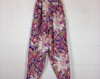 70s Floral Upcycled Trousers