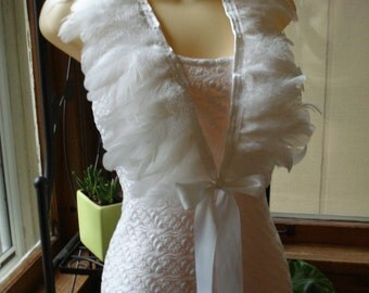 Feather Cape, Shrug, Shawl, Collar, Capelet, Shoulder Feathers, Feather Shoulder Accessories, Feathered Shoulder Wings, Wedding Wings