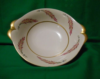 """One (1), 10"""" Round Vegetable Bowl, (Occupied Japan)  from Meito-Norleans, in the Chatham (F & G Japan) Pattern."""