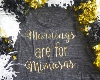 Mornings Are For Mimosas Shirt - Barre Tank - Workout Tank- Barre Shirt - Fitness Tank - Yoga Tank - Brunch - Brunch Shirt