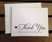 To OFFICIANT on our wedding day - Special THANKS - Notecard - Recycled - Eco Friendly