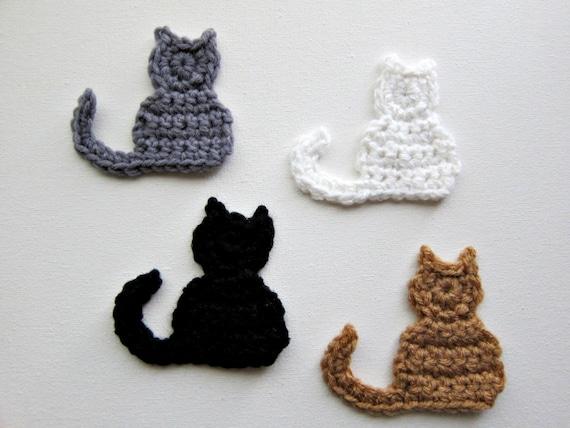 1pc Crochet CAT Applique