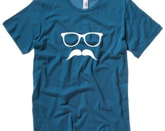 MOUSTACHE AND GLASSES Men's T-Shirt