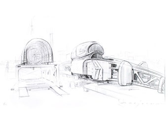BLOODHOUND SSC Monocoque Limited Edition Print
