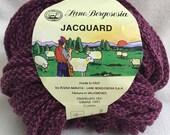 Lane Borgosesia Jacquard Woven Yarn Super Bulky Purple Virgin Wool/Acrylic Blend