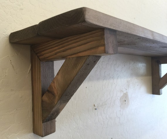 Architectural Supports Shelves : Primitive wall shelf decorative wooden with matching